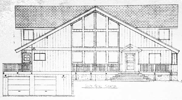 Side View Of A House Plan